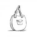 Lusi w kolorze granatowym torebka z naturalnej wytrzymałej skóry torba od ladybuq art