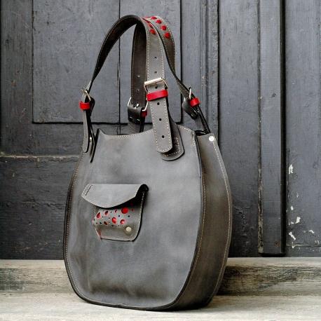 Lusi szara unikalna torebka od polskich projektantów z ladybuq art studio