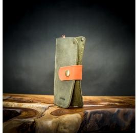 bequeme, funktionelle Lederbrieftasche, handgefertigte Naturlederbrieftasche