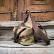 Personalized backpack in Beige and Khaki colors, leather handmade backpack made by Ladybuq