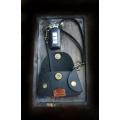 stylish black key holder made by hand by ladybuq art