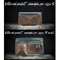 handmade natural full grain leather tote bag with a clutch