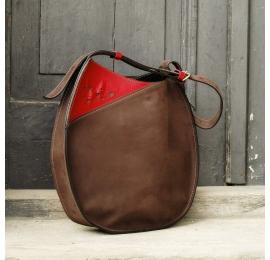 Lusi mit einem Riemen Handgefertigte Naturleder einzigartige handliche Einkaufstasche von Ladybuq Art