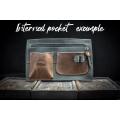 Squer unique tote bag laptop purse unique design made by Ladybuq Art