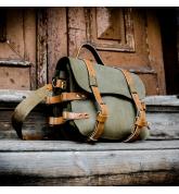 Plecak skórzany wykonany ręcznie z naturalnej skóry w kolorach Khaki oraz Camelowym z dodatkowym paskiem na ramię