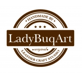 Unique Brown wallet made by hand by Ladybuq Art