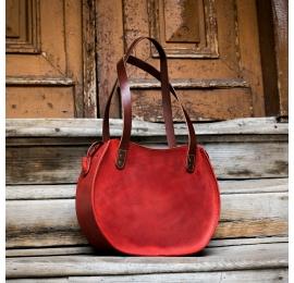 torebka z matowej czerwonej skóry z możliwością personalizacji od ladybuq