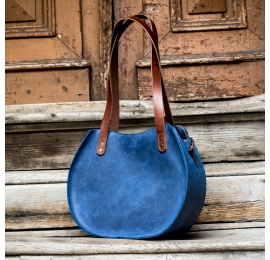 purse made out of matte leather that can be personalized made by Ladybuq