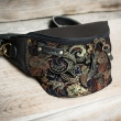 stylish evening purse, limited handmade fanny pack made by ladybuq art