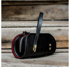 torebka pepa z wyjątkowym wzorem w czarne kropki od Ladybuq Art