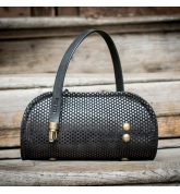 Limited collection purse Pepa in Black color made by Ladybuq