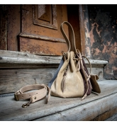 Leather Maja purse made out of soft suede by Ladybuq