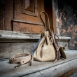 Leather Maja purse made out of soft suede leather