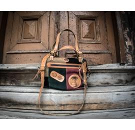 damska torebka z długim paskiem na ukos, ręcznie wykonana welurowa torebka