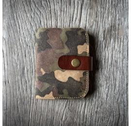 Skórzany portfel z oryginalnym wzorem szachownicy od Ladybuq Art