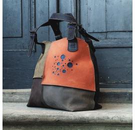Leather bag Alicja four colors navy blue.