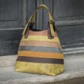 handmade natural leather bag Alicja in beautiful colorful straps