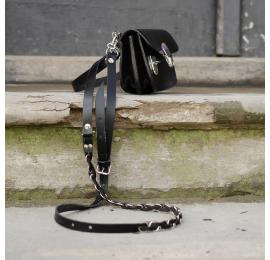 Mała skórzana torebka Pati rozmiar S idealna na wieczorne wyjście, zmieści telefon portfel oraz klucze