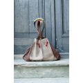 Marlena handmade natural leather bag made by polish designers ladybuq art studio
