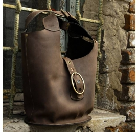 big Ladybuq bag handmade natural leather tote oversize style bag