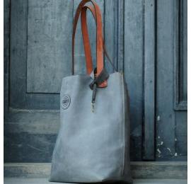 Zuza torebka zamykana na magnes w kolorze Szarym z regulowanymi paskami, torba na co dzień, idealna torebka na zakupy
