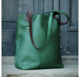 Bag made by Ladybuq Art Studio Zuza in unique Green colour perfect shopping bag, laptop bag, office bag
