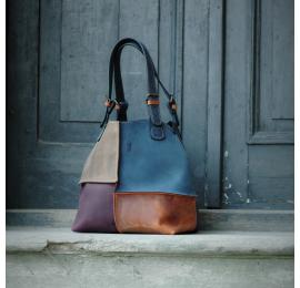 Leather bag Alicja four colors Ultimate Edition dark blue.