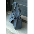 Kuferek in Navy Blue colour perfect laptop bag with exterior iPhone pocket made by Ladybuq Art