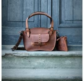 zestaw torebka z paskiem i kopertówką od Ladybuq piękna torebka w unikalnych kolorach od polskich projektantów