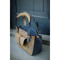 Well known design in new colour beautiful Kuferek Whiskey and Navy Blue stylish summer bag