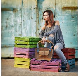 Dobrze znany design w nowym kolorze piękny kuferek Whiskey i Granat stylowa torba na lato