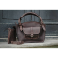Handmade oversize bag tote bags purses natural leather products ladybuq chocolate brown