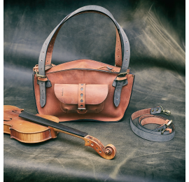 Torebka skórzana Kuferek Ultimate Edition wersja MINI kolor rudy od Ladybuq Art