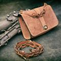 Torebka Ella ruda ręcznie robiona torebka z naturalnej skóry od Ladybuq Art