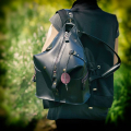 Backpack/Bag unique backpack made by ladybuq art studio out of high quality natural leather