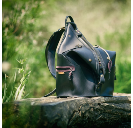 Plecak/Torba unikalny plecak wykonany przez ladybuq art studio z naturalnej skóry wysokiej jakości