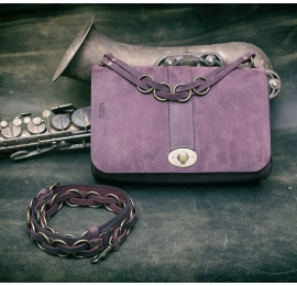 Handmade Ella bag in Plum colour made entirely out of natural finest quality leather