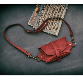Fanny Pack / small shoulder bag / Raspberry