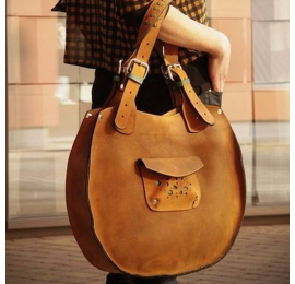 Lusi torebka w kolorze whiskey z naturalnej skóry wysokiej jakości od polskich projektantów