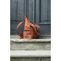 Ladybuq Art torba podróżna, torba weekendowa, torba na lato wykonana z przepięknej skóry naturalnej w rudym kolorze
