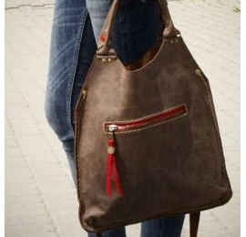 Leather bag Small Ladybuq in Brown color made by Ladybuq Art