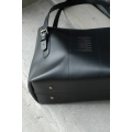 Unique leather bag Zuza made by hand out of high quality natural leather by Ladybuq