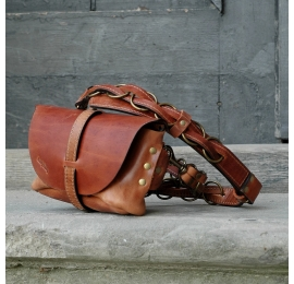Fanny pack / cross body leather bag Ginger size  M