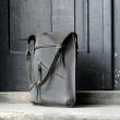 Oversize szary torba z naturalnej skóry unikalna ręcznie robiona od polskich projektantów