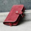 portefeuille couleur framboise avec fermeture confortable et poche à monnaie