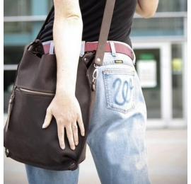 Leather bag Small Ladybuq, brown, bigger size