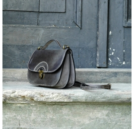 Unique vintage style bag perfect for phone and wallet in grey colour