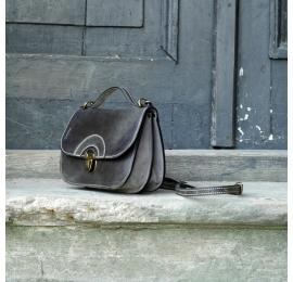 Wyjątkowa torebka w stylu vintage idealna na telefon i portfel w kolorze szarym