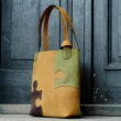Zuza from Puzzle collection in three beautiful colors, big laptop and documents bag hand stitched made out of natural leather