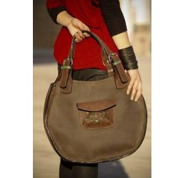 Lusi brązowa unikalna torba idealna do użytku codziennego podręczna torebka od Ladybuq Art